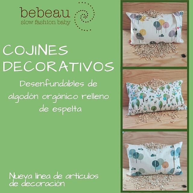 Nueva línea de artículos de decoración BebeauNuevo producto!!! Poco a poco vamos a lanzar una nueva línea de artículos de decoración para bebés confeccionados con materiales ecológicos. Hoy os quiero enseñar estos coloridos cojines disponibles en tres estampados.  Próximamente más…#slowfashionmovement #slowfamily #babyshower #bebe #mama #familia #decoracion #decoracionbebe #decoracioninfantil #ecofriendly #ecologico #algodonorganico #cojinbebe #lactancia